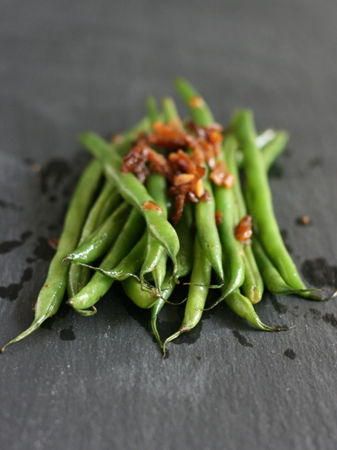green beans with radish